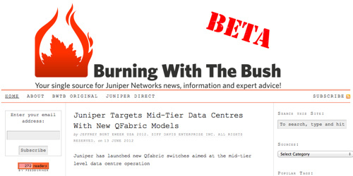 Burning With The Bush :: Your single source for Juniper Networks news, information and expert advice! (beta)