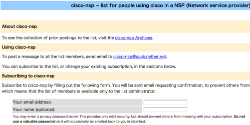 cisco-nsp Info Page